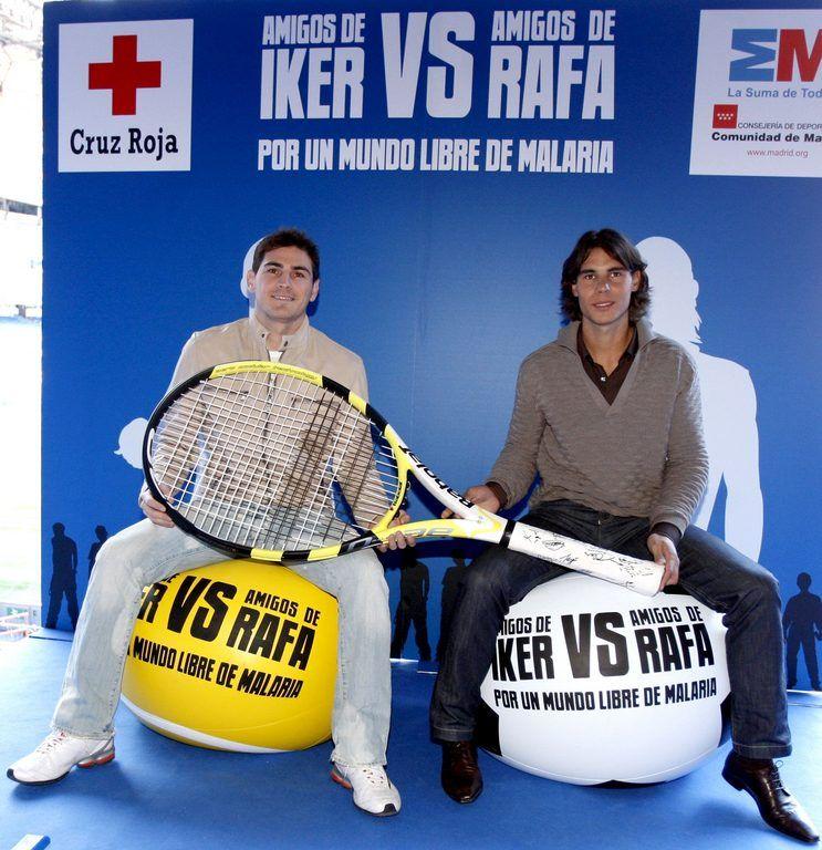 Rafael Nadal y Iker Casillas Solidarios
