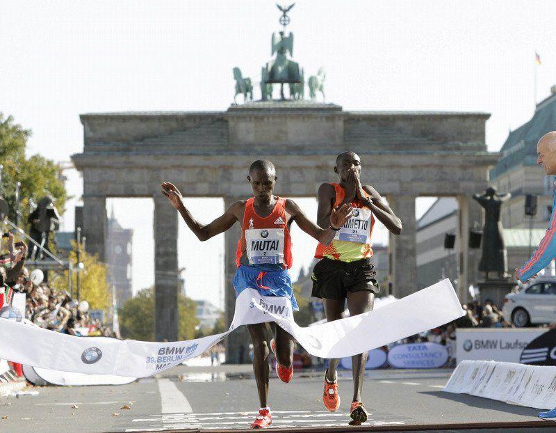 Mutai en la Maratón de Berlín