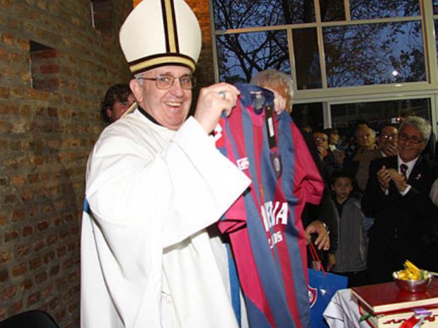 El Papa con la camiseta del San Lorenzo
