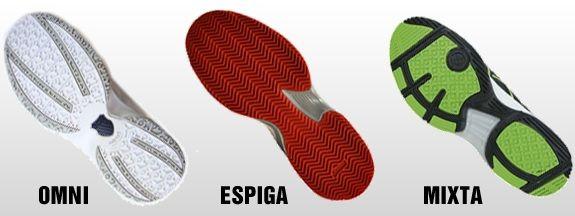 Tipos de calzado de pádel